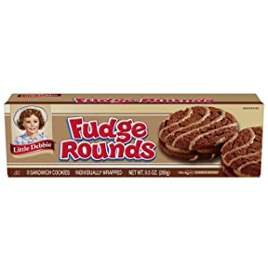Little Debbie Individually Wrapped Fudge Rounds (8 count) 9.5 oz Box - Pack of 3