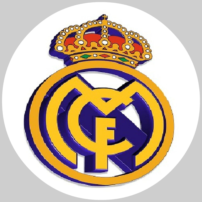 Acabado para tarta de fútbol con el escudo del Real Madrid ...