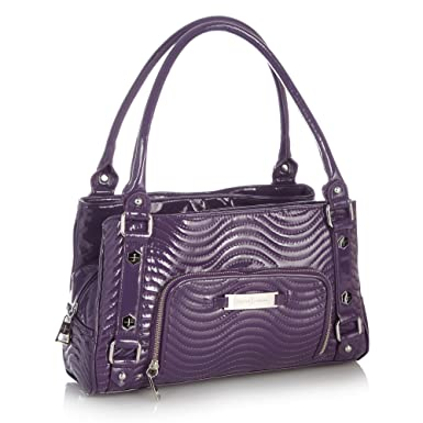 J By Jasper Conran Purple Patent Wave Quilted Tote Bag  Amazon.co.uk   Clothing ee88e48eda155