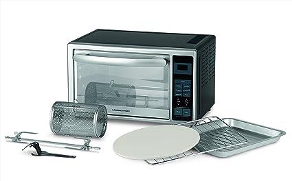 Gourmetmaxx 00968 Estufa infrarrojos 28L, con pantalla digital y Circunferencia: Ricco de accesorios