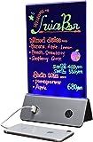 PLATA メニュースタンド型 モバイルバッテリー 10000mAh 最大4台まで同時充電可能 POP 手書き LED蛍光ブラックボード A5サイズ