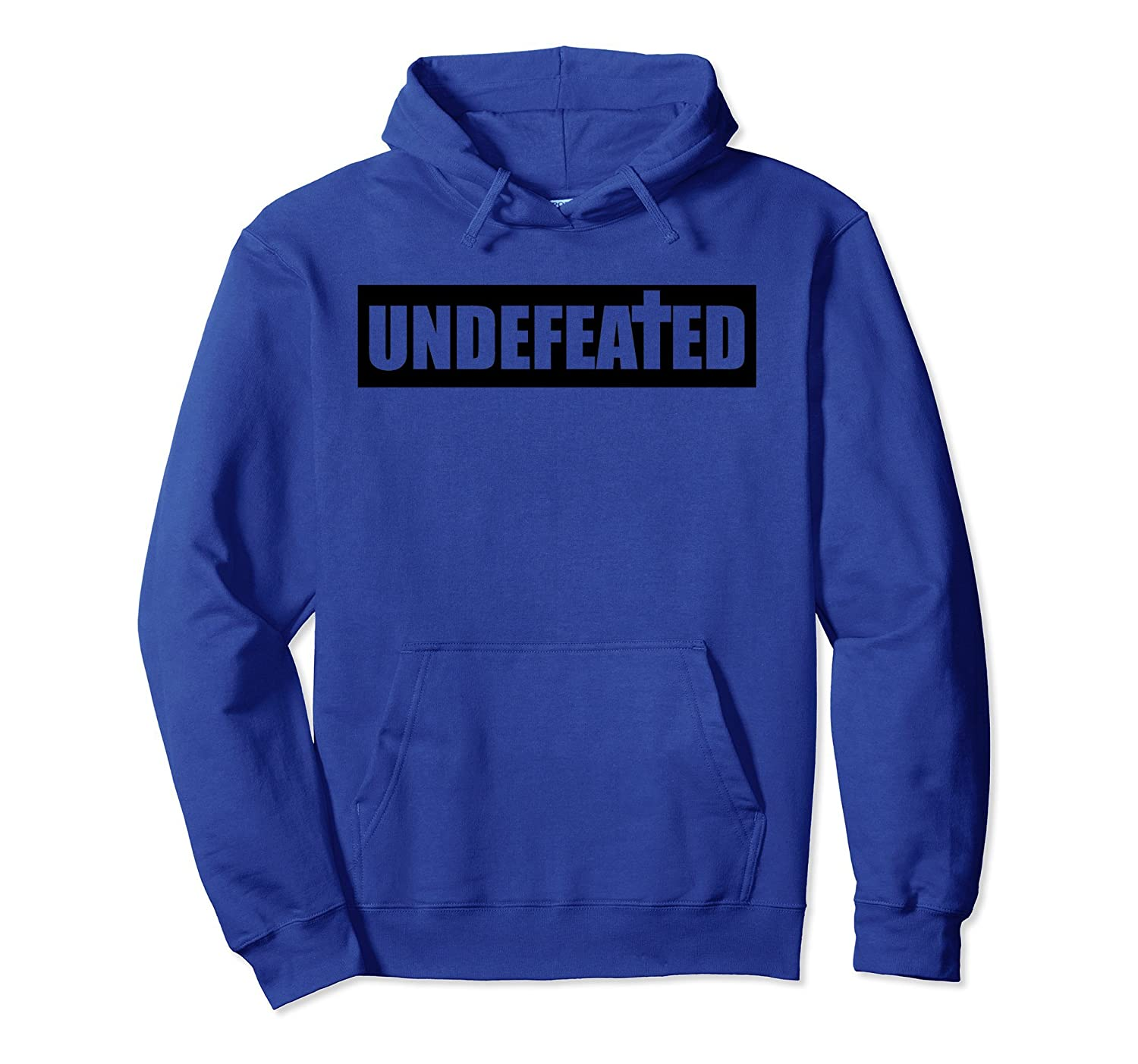 Christian Religious Pullover Hoodie Undefeated Cross-fa