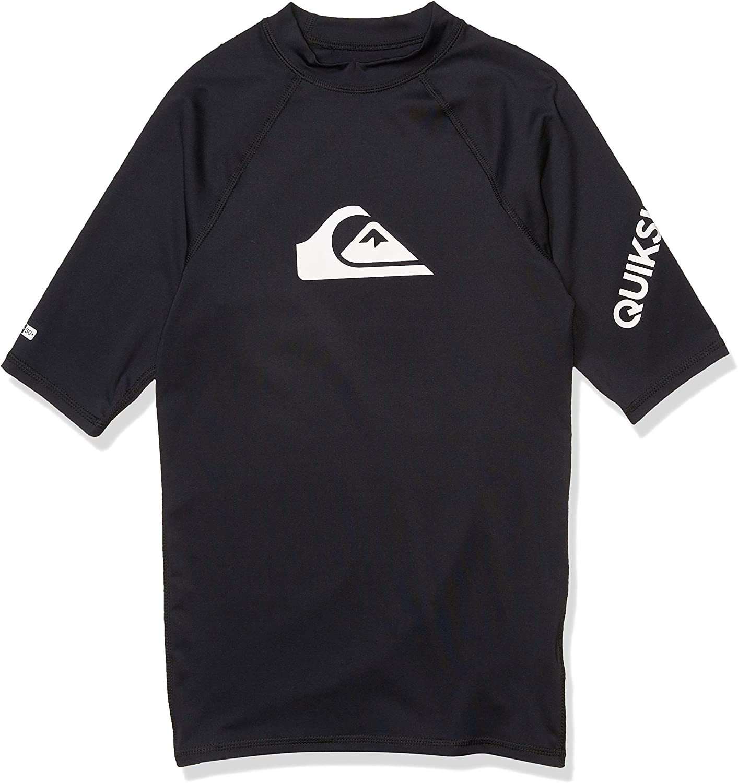 Quiksilver Jungen All Time Short Sleeve Youth Rashguard Surf Shirt Rash Guard Hemd