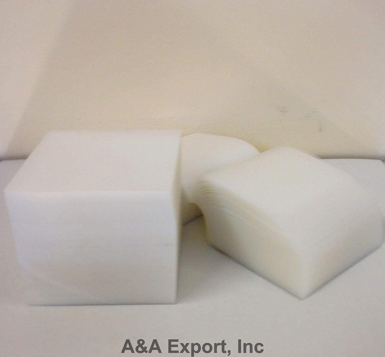 A&A Export Inc 3 x 3 Clear Plastic Furniture Carpet Tabs - 1,000 cts