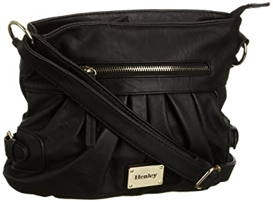 8f7b53f04b Henley Women s Ella Cross Body Bag Black HBAG012.3  Amazon.co.uk ...