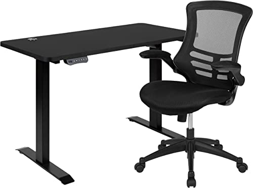 Flash Furniture 48″W x 24″D Black Electric Height Adjustable Stand Up Desk