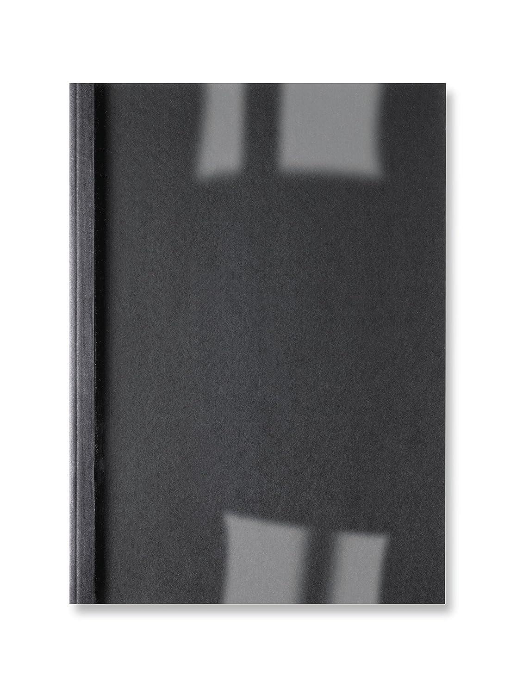 GBC IB386039 Linenweave Copertine per Rilegatura Termica, 6 mm, Confezione da 100, Nero ACCO Brands