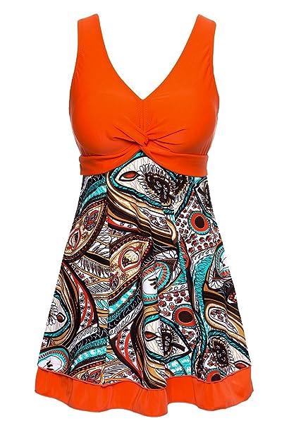 Amazon.com: MiYang Traje de baño tipo vestido con ...