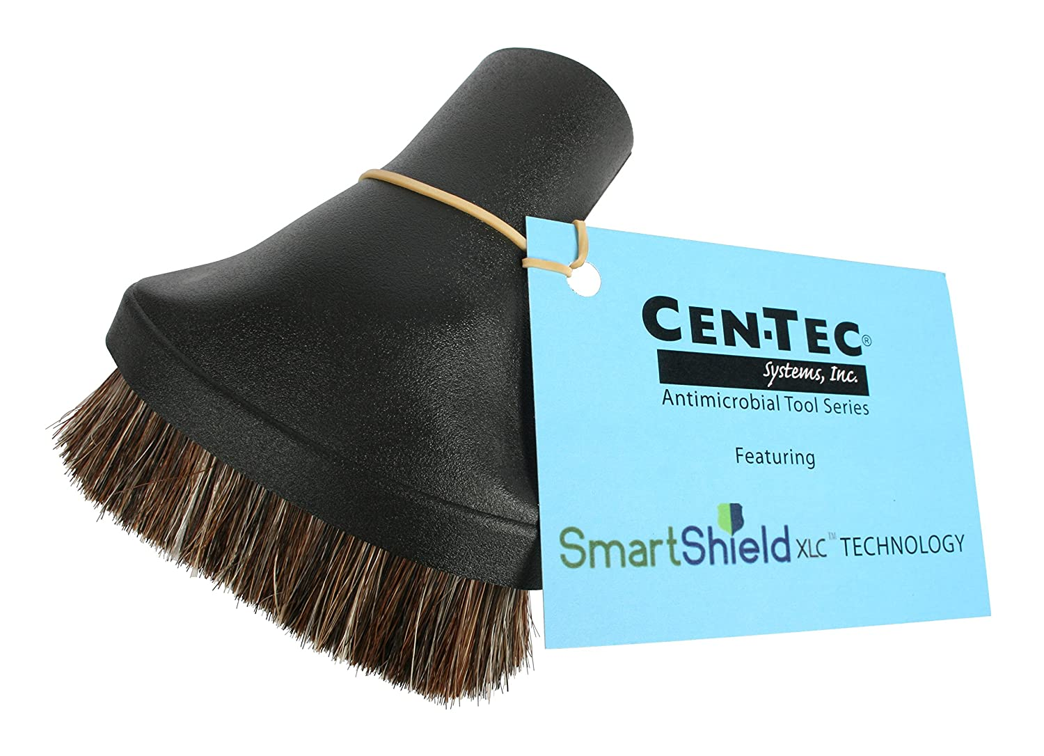 Cen-Tec Systems 34839 Premium Dusting Brush Vacuum Tool with Soft Fill and Applied Anti-Microbial Spray, Black 34839AM