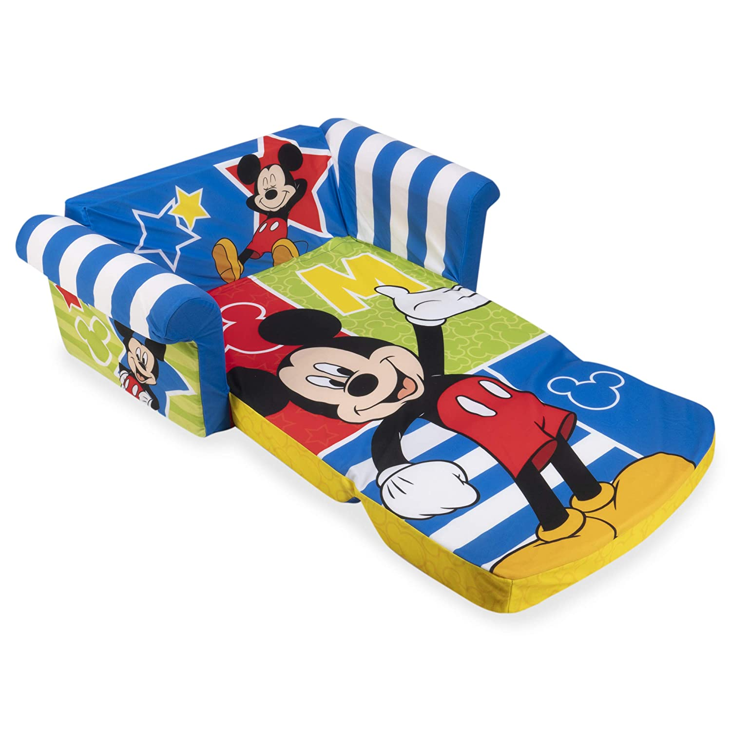 by Spin Master Disney/'s Mickey Mouse Childrens 2-in-1 Flip Open Foam Sofa Marshmallow Furniture