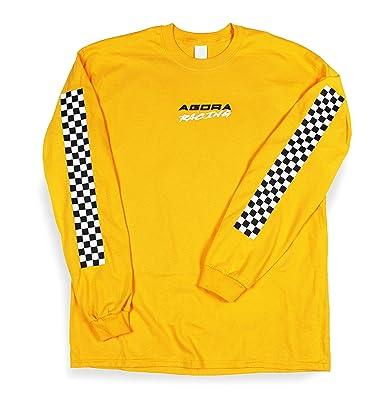 fd87b7e93e9 Amazon.com  AGORA Racing Long Sleeve T-Shirt  Clothing