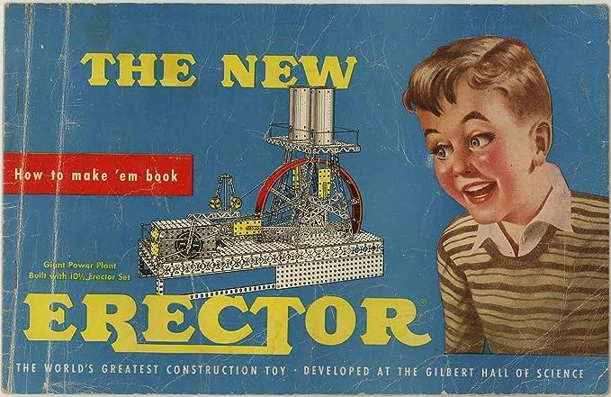 1954 Erector Set Instructions How To Make Em Book Ac Gilbert