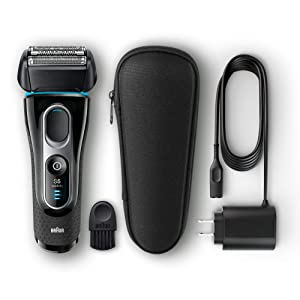 Braun Series 5 5145s Men's Electric Foil Shaver, Wet & Dry, Integrated Precision Trimmer, Rechargeable and Cordless Razor, with Travel Case – Black