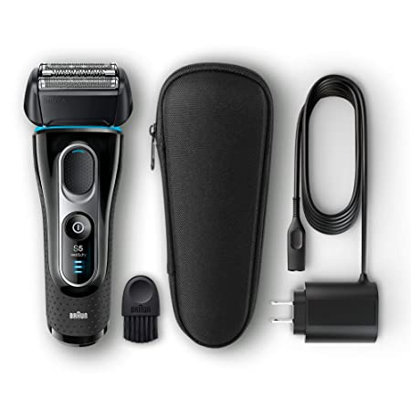 Braun Series 5 Men's Electric Foil Shaver With Wet & Dry Integrated Precision Trimmer & Rechargeable And Cordless Razor With Travel Case, 5145s by Braun