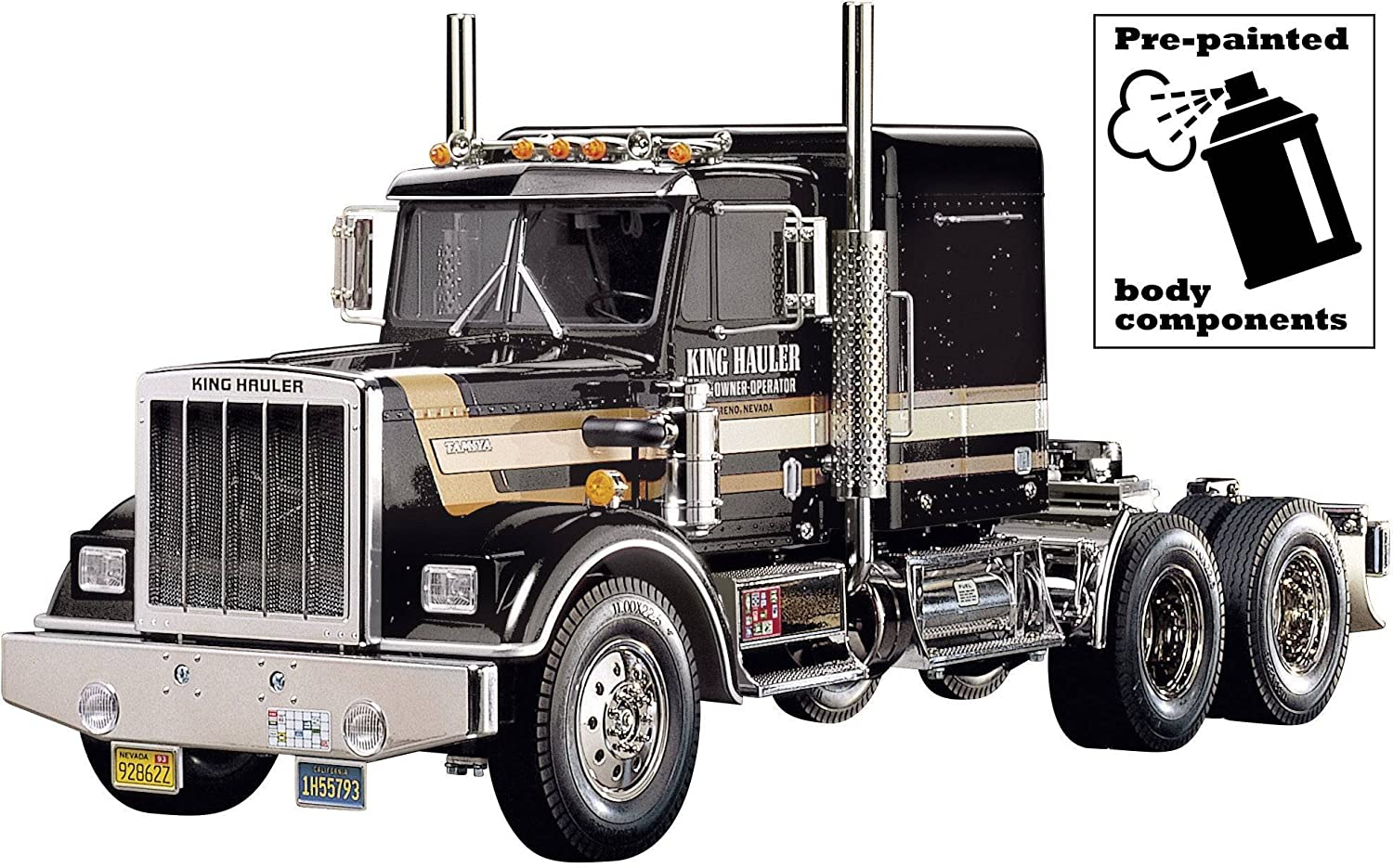 Amazon com: Tamiya 56336 RC King Hauler Black Edition: Toys