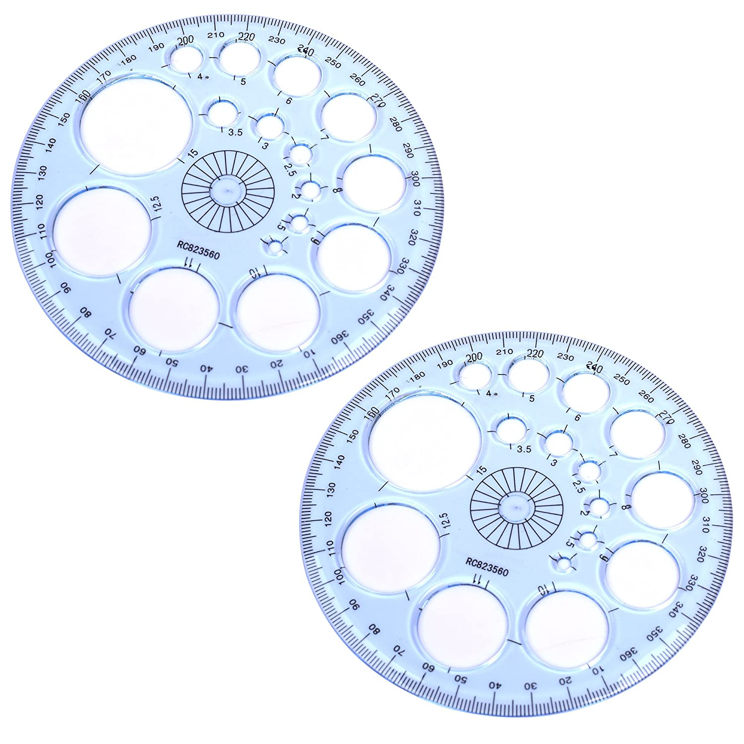 COSMOS Pack of 2 360 Degree Protractor and Circle Maker