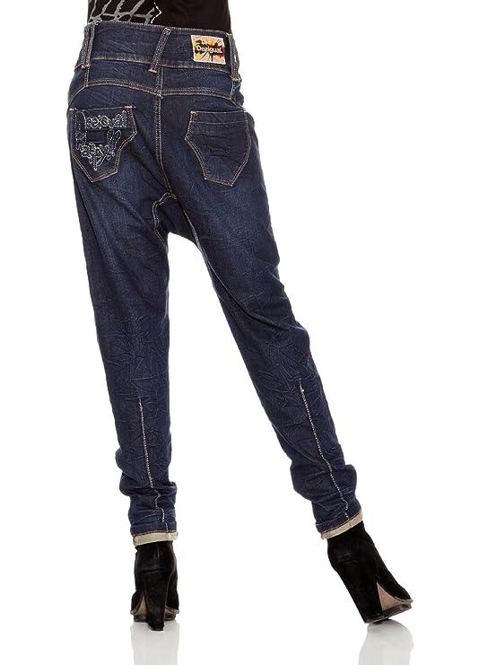 Desigual Pantalón Repe Azul ES 38: Amazon.es: Ropa y accesorios