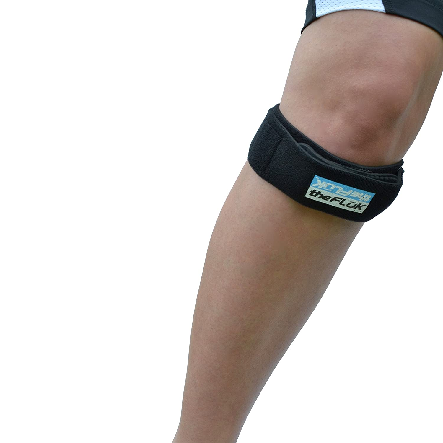 a09d30b9a2 Amazon.com: The Fluk Premium Adjustable Knee Strap, Knee Pain Relief,  Patella Stabilizer Knee Strap Brace Support For Hiking, Soccer, Basketball,  Running, ...