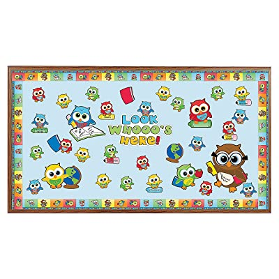 Fun Express Bulletin Board Set - Welcome Back Owl - 150 Pieces - Educational and Learning Activities for Kids: Toys & Games