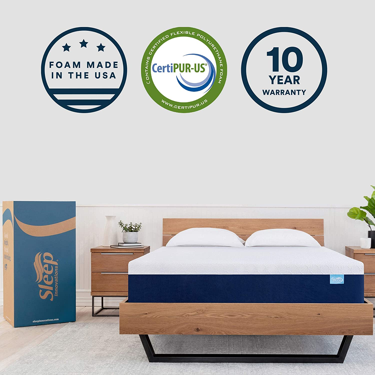 best king size mattress - the Sleep Innovations Shiloh Memory Foam Mattress