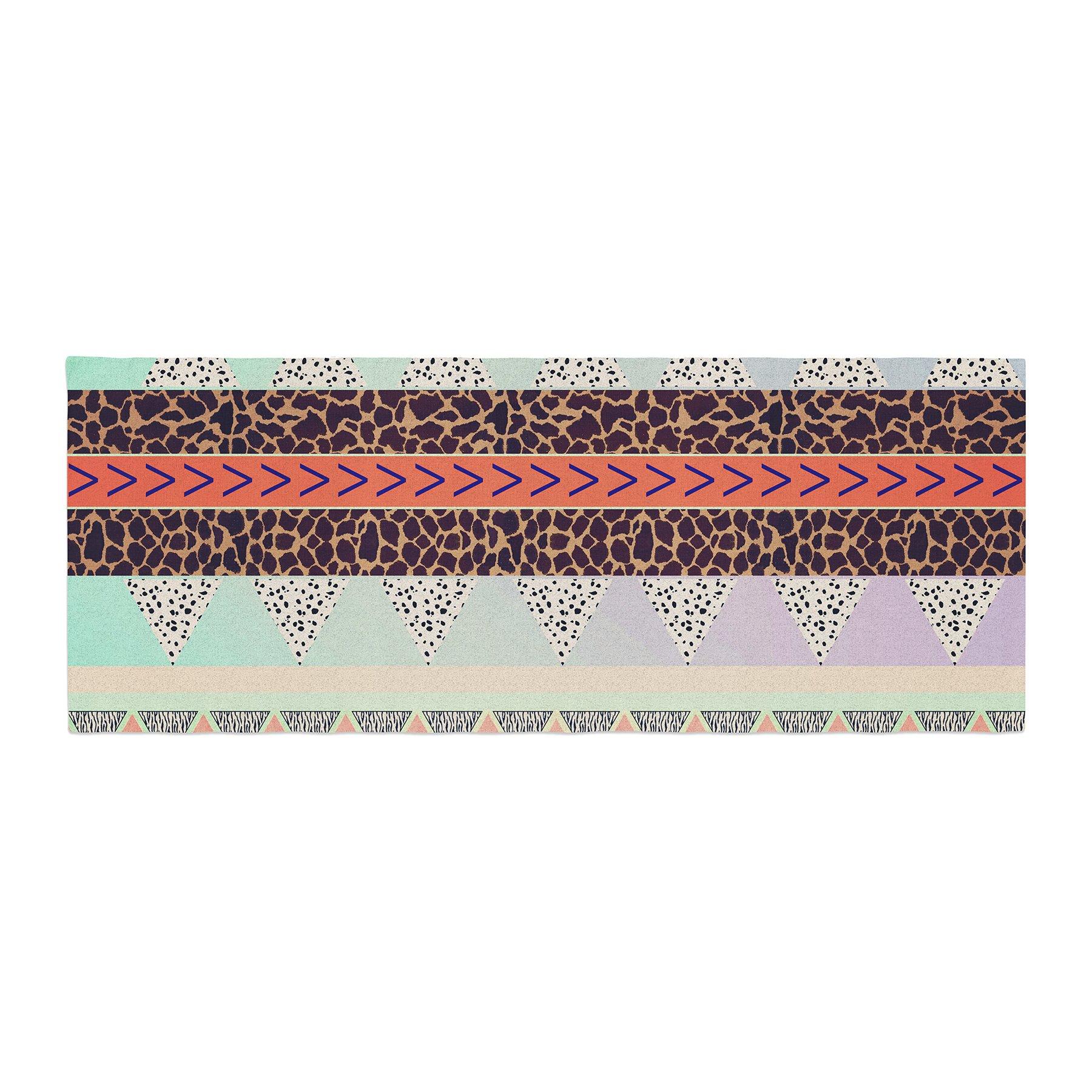 Kess InHouse Vasare Nar Animal Print Tribal Multicolor Pastel Bed Runner, 34'' x 86''