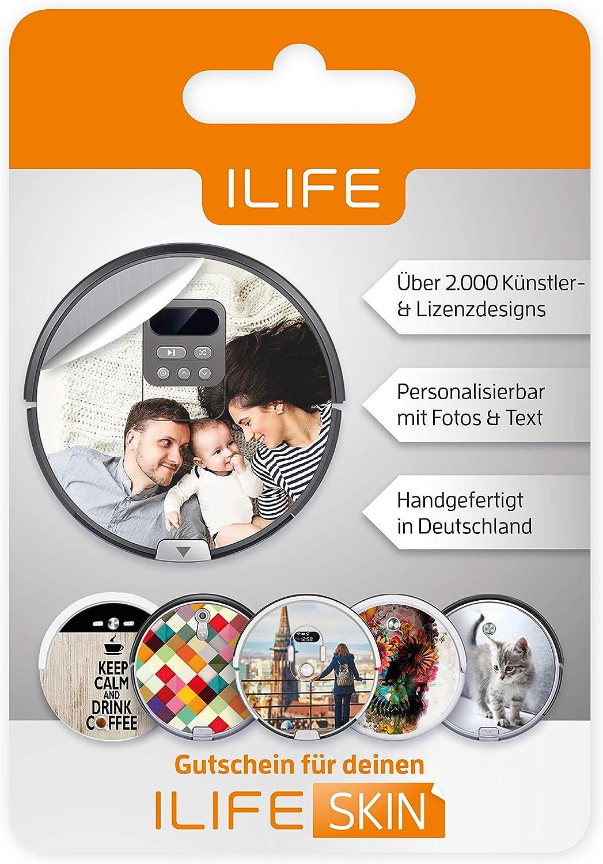 ilife Robot aspirador Skin cupones, crea tu propia Robot aspiradora pantalla | Bolsa pegatinas Modelos V3S, V5S Pro, V4, V80, A4S, A40, A6, A7, A8: Amazon.es: Hogar