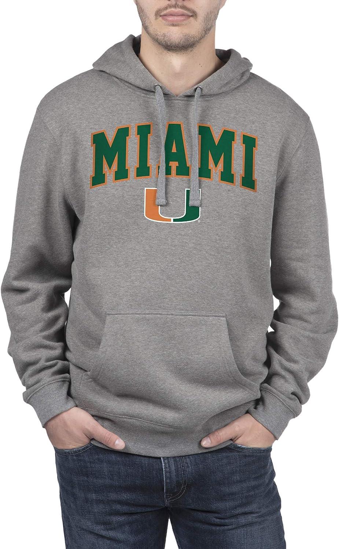 Top of the World Men's Fit Light Heather Team Arch Premium Fabric Hoodie Sweatshirt