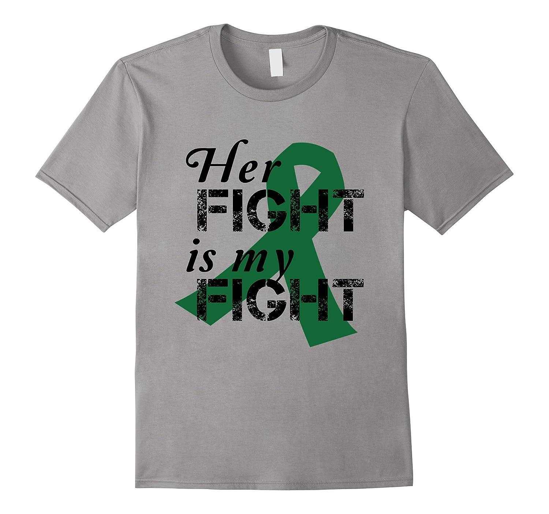 Emerald Ribbon Liver Cancer Awareness Her Fight T-Shirt-FL