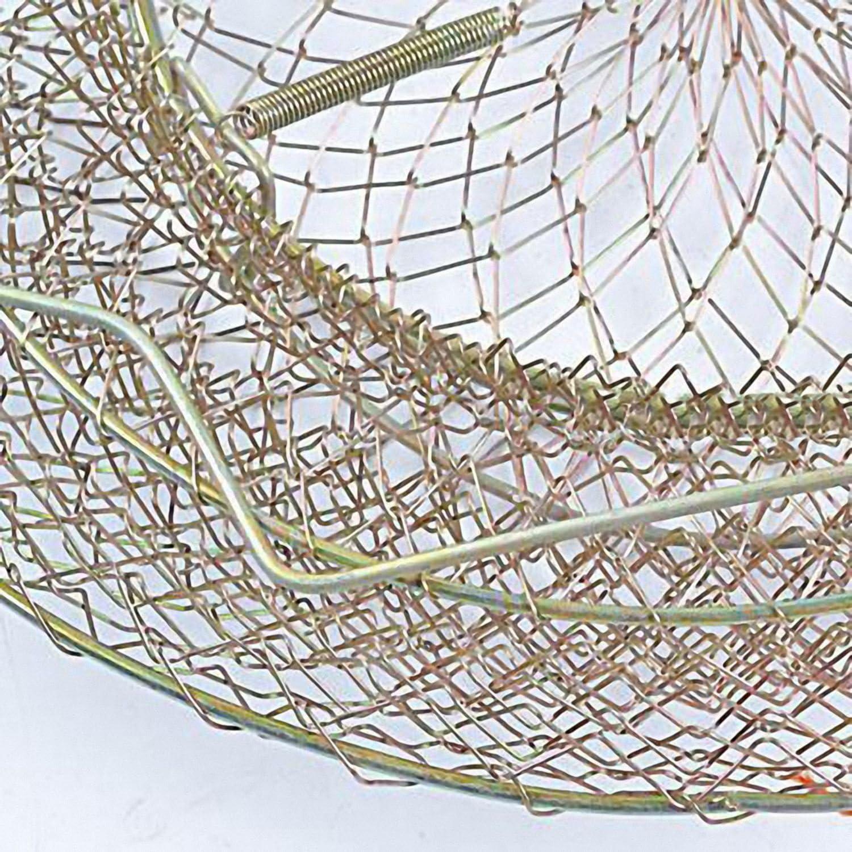 JVSISM Pot de Peche Pliable Portable en Fil dacier Piege Net Crabe Cage de Ecrevisse Panier de Poisson