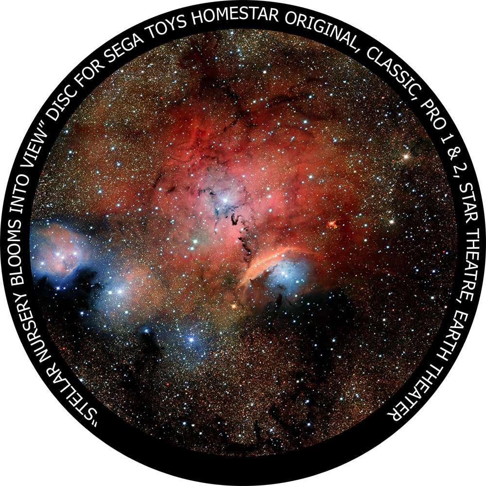 Stellar Nursery Blooms into View disc for Segatoys Homestar Pro 2, Classic, Original, Earth Theater Home Planetarium by Kweller