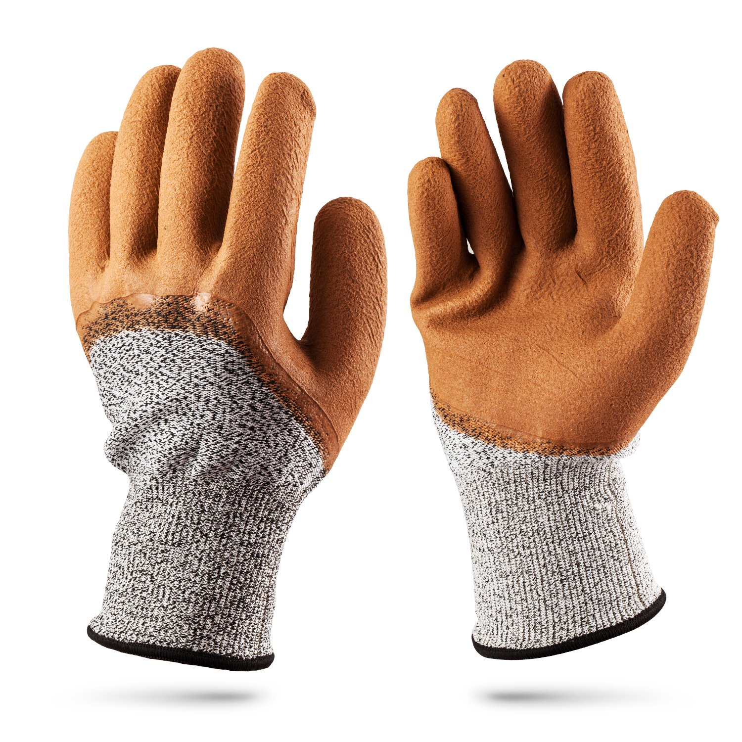 Cut Stab Cut Resistant Gloves,TFboys 2 Pack Gloves Resistant Level 5 Working Protective Gloves Anti Abrasion for Safety