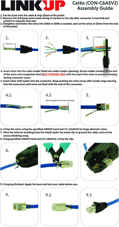 ideal rj45 wiring diagram amazon com linkup rj45 connector crimp tool for large diameter  linkup rj45 connector crimp tool
