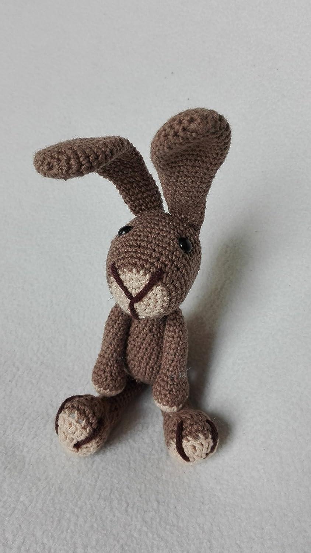 Hase Samy - dunkelbraun - BIO Wolle - tolles Kuscheltier Geschenk für Kinder