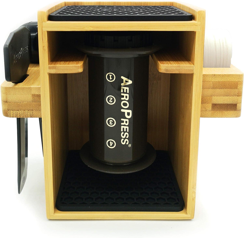 HEXNUB Soporte compct Organizador de bambú Premium para cafetera ...