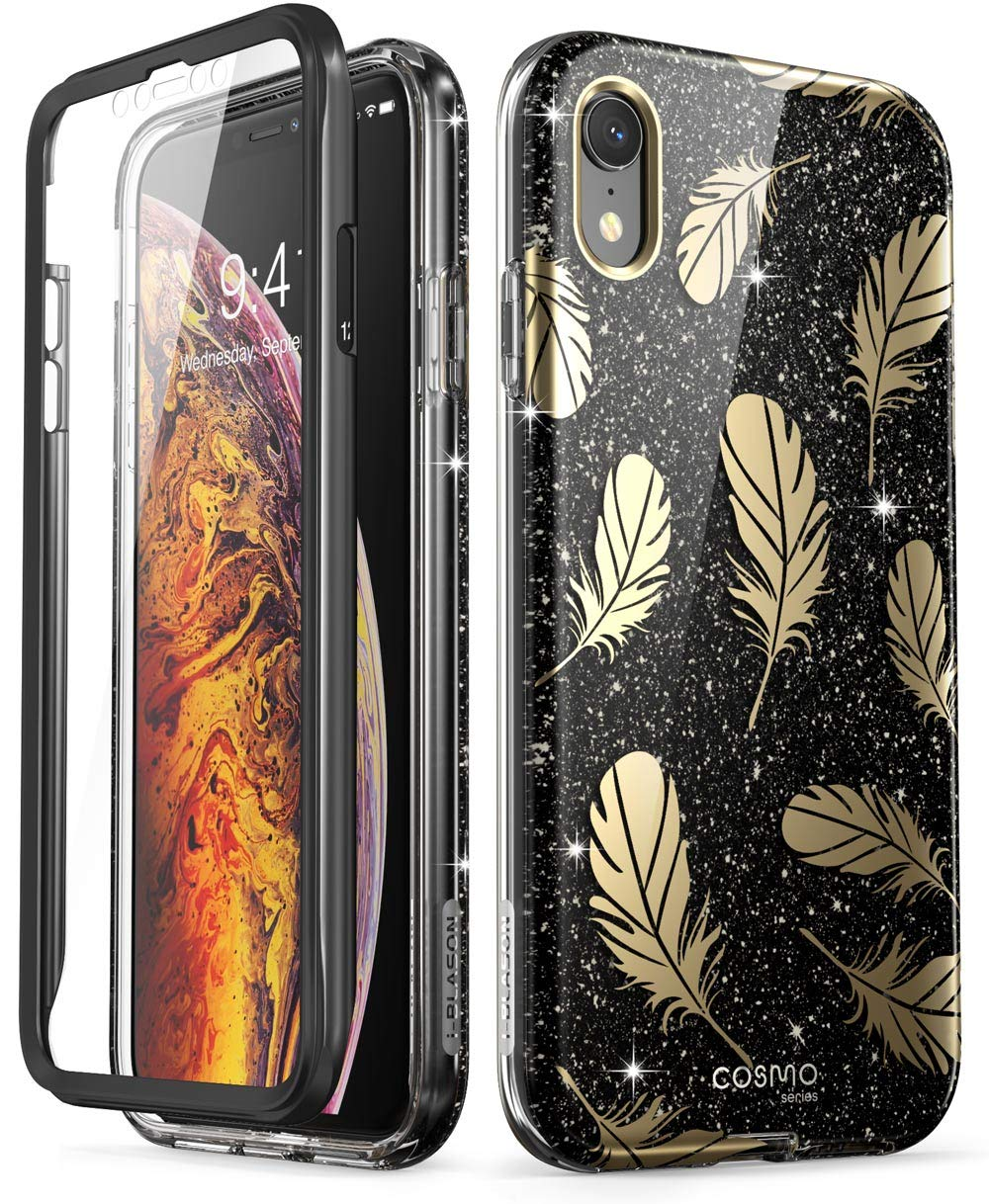 iPhone XR Case, [Built-in Screen Protector] i-Blason [Cosmo] Full-Body Glitter Bumper Case for iPhone XR 6.1 Inch 2018 Release - 81Cv2o15aHL - iPhone XR Case, [Built-in Screen Protector] i-Blason [Cosmo] Full-Body Glitter Bumper Case for iPhone XR 6.1 Inch 2018 Release