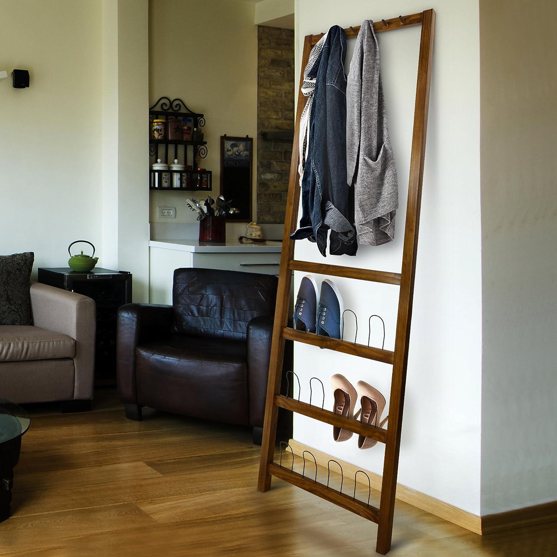Casual Home 117-15 Studio Leaning Coat Shoe Rack, Warm Brown