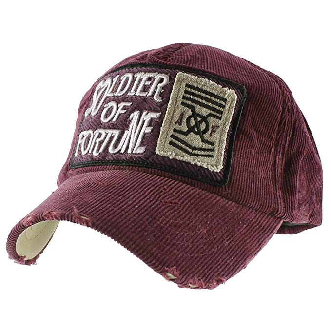 a2312bcac Morehats Soldier of Fortune Corduroy Vintage Style Baseball Cap ...