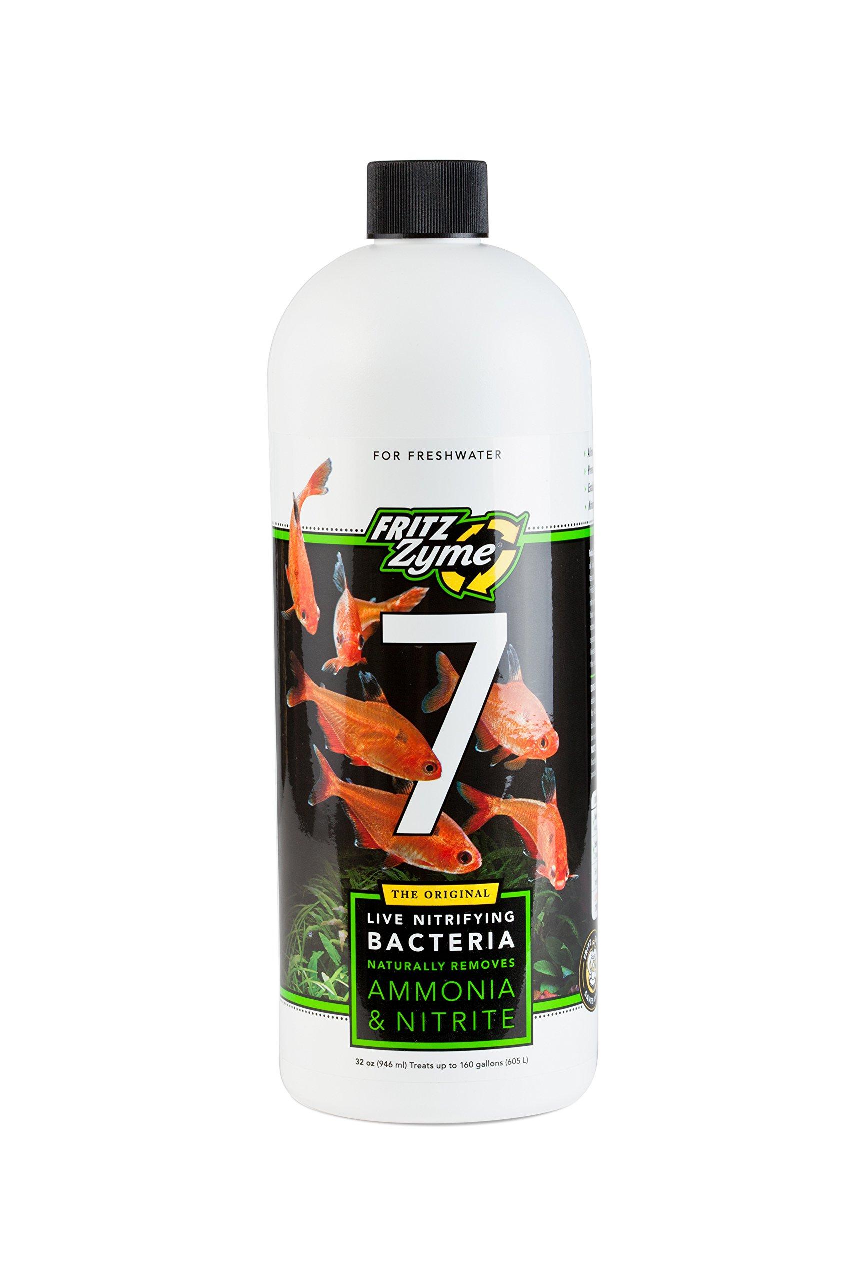 Fritz Aquatics 80210 FritzZyme 7 Nitrifying Bacteria for Fresh Water Aquariums, 32-Ounce