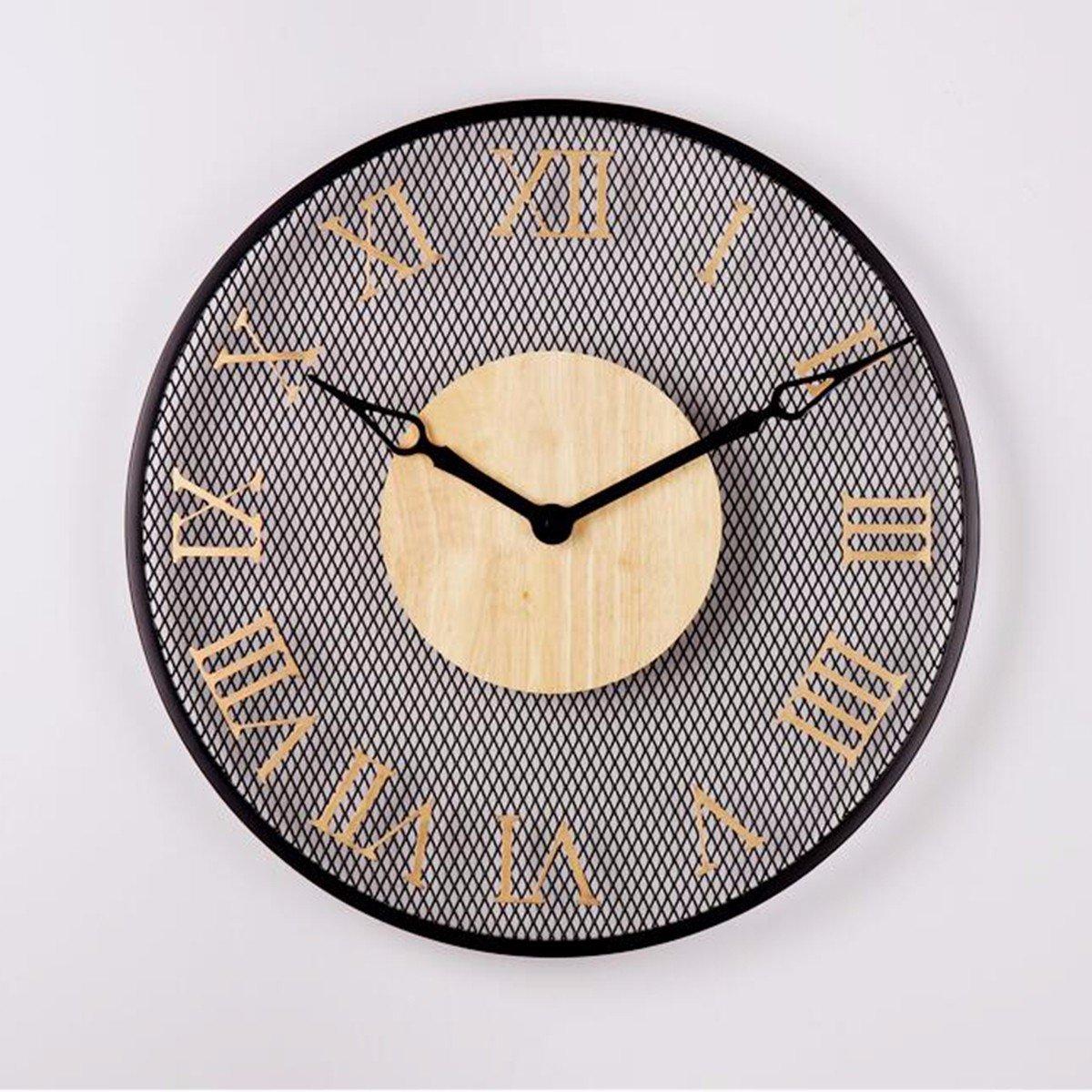 Amazon.com: Wall Clocks Modern minimalist dining room bedroom entrance round clock clock digital clock background wall air personality,B: Home & Kitchen