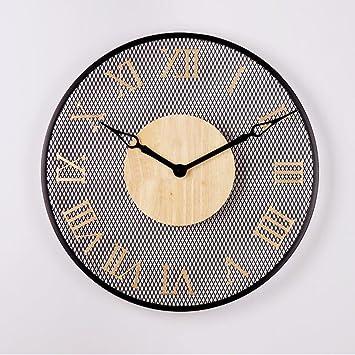 Reloj De Pared Minimalista, Moderno Comedor Dormitorio Entrada Redondo Reloj Reloj Reloj Digital Pared Del Fondo Aire Personalidad,B: Amazon.es: Hogar