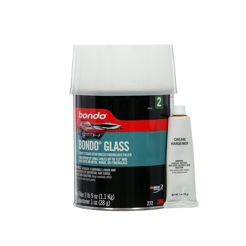 Bondo 272 Bondo-Glass Fiberglass Reinforced Filler Quart Can, - 2 lbs 9 oz., 1 oz. Hardener