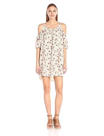 French Connection Women's Anastasia Ditsy Polly Plains Dress, Anastasia Ditsy Print Cream Multi, XS