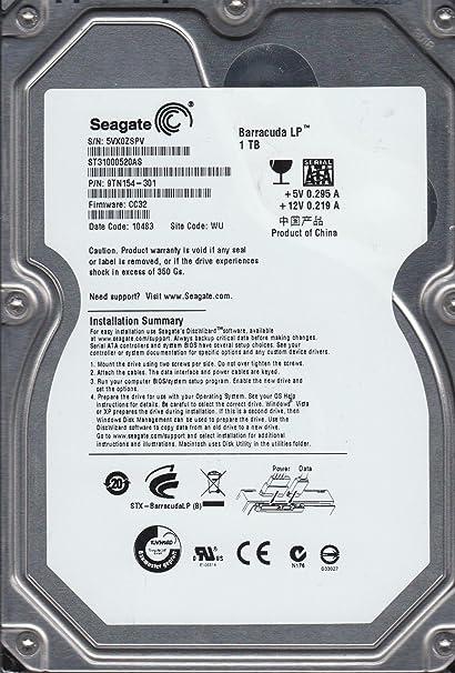 Seagate ST31000520AS SATA Drive Driver FREE