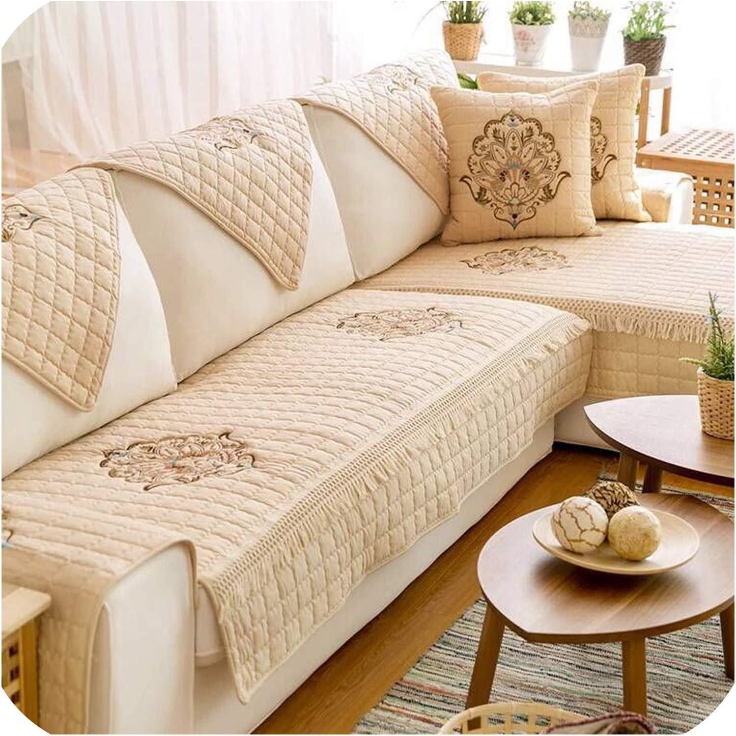 Green Plaid Funda de sofá de Esquina Funda de sofá Sofá de algodón ...