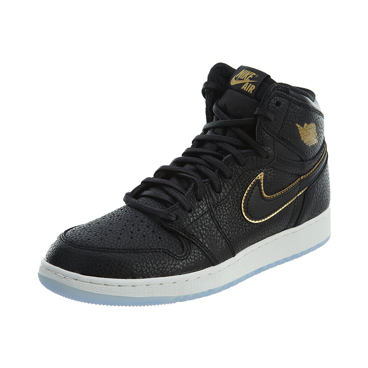 4aca5737cf4 Amazon.com | Nike Boys Air Jordan 1 Retro High OG BG Black/Metallic Gold |  Sneakers