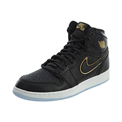 best website 24448 6547a Amazon.com | Nike Boys Air Jordan 1 Retro High OG BG Black ...