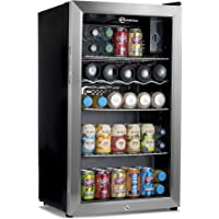 Subcold Super85 LED - Under-Counter Fridge With Stainless Steel Door | 85L Beer, Wine & Drinks Fridge | LED Light + Lock and Key | Low Energy A+