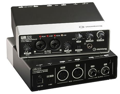 Steinberg 502004313 UR22 - Interfaz de audio USB (con conectores MIDI de entrada y salida)