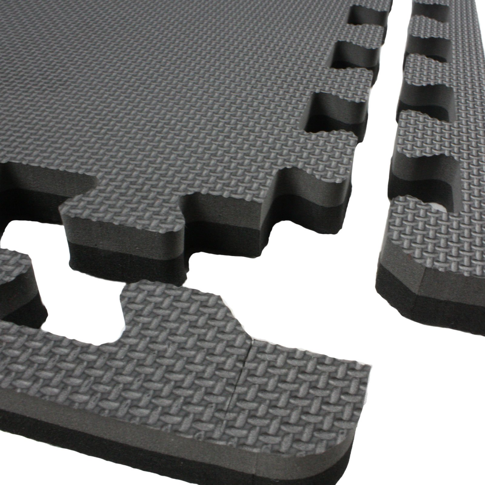 IncStores - Jumbo Soft Interlocking Foam Tiles (10 Tiles, Black/Grey) Perfect for Martial Arts, MMA, Lightweight Home Gyms, p90x, Gymnastics, Cardio, and Exercise by IncStores (Image #4)