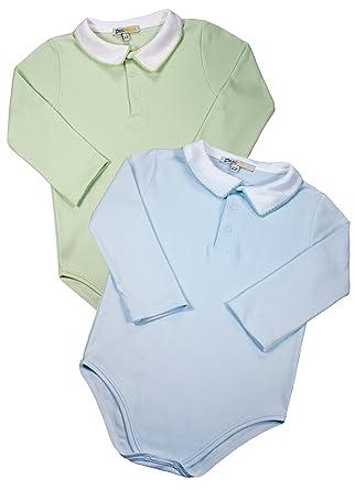 866806edd Amazon.com  Baby Boys  100% Pima Cotton Bodysuits - Blue Green Long ...